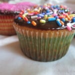 Dad's Extraordinary Yellow Cupcakes with Chocolate Ganache