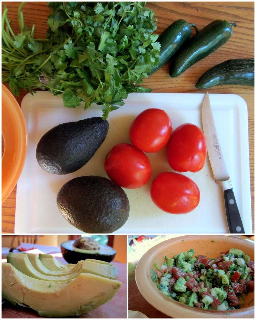 collage of ingredients to make black bean chicken enchiladas
