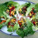 Thai Chicken Lettuce Wraps with Sweet Mango-Cilantro Salsa