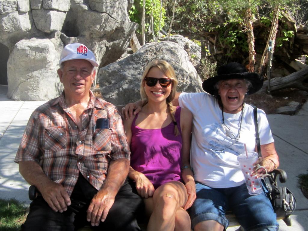 monique with her grandparents