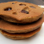 Perfect Pumpkin Pancakes with Dark Chocolate Chips