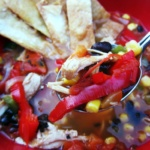 spoonful of mexican chicken soup