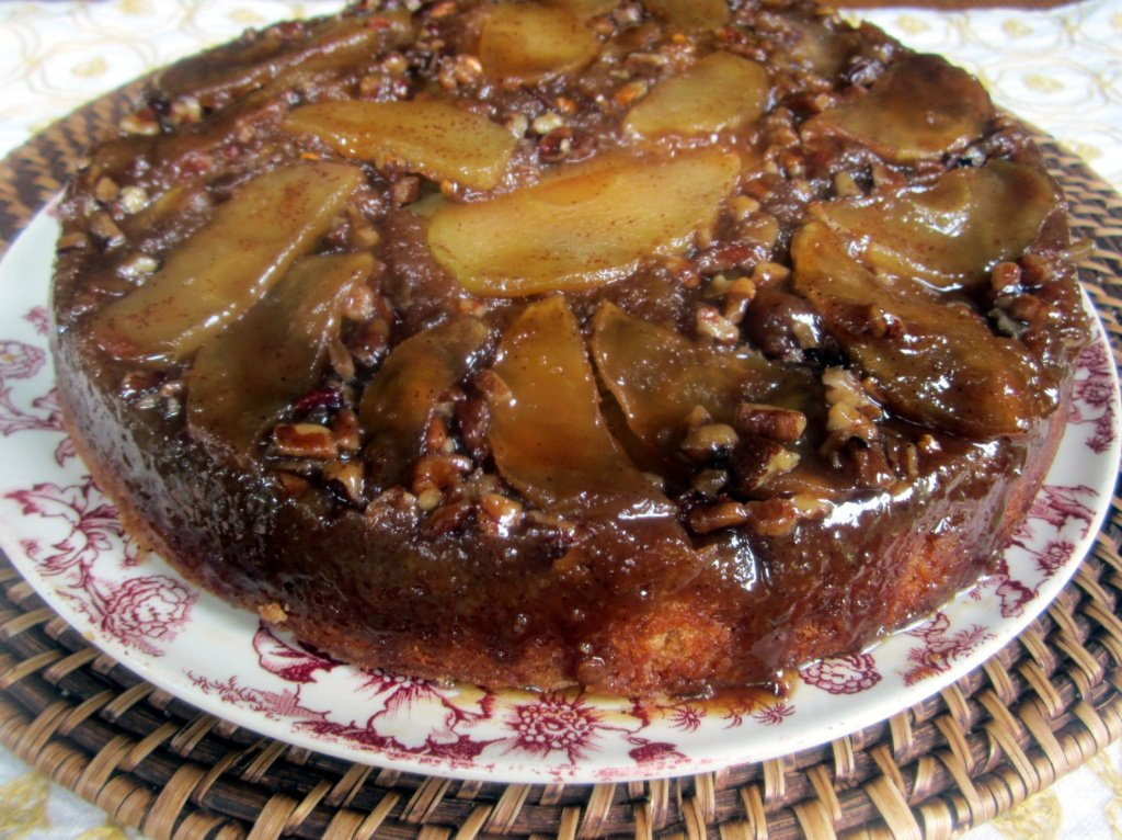 Upside-Down Salted Caramel Apple Pecan Cake | Ambitious Kitchen