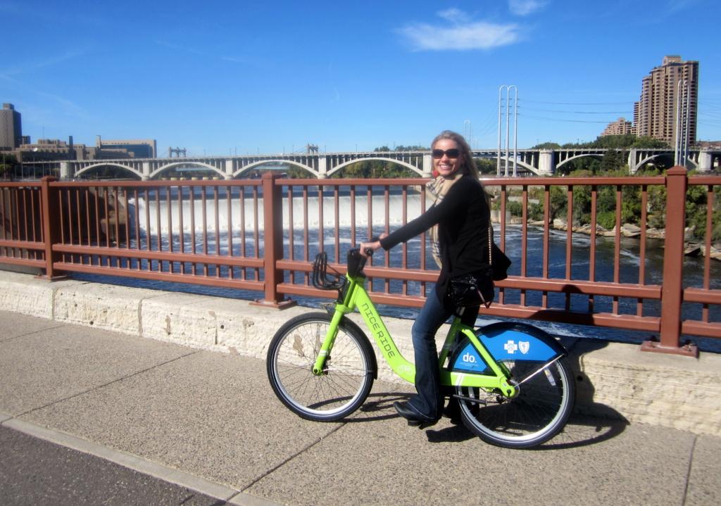 monique on a bike