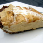 Dulce de Leche Pumpkin Mousse Pie with Pecan Gingersnap Crust