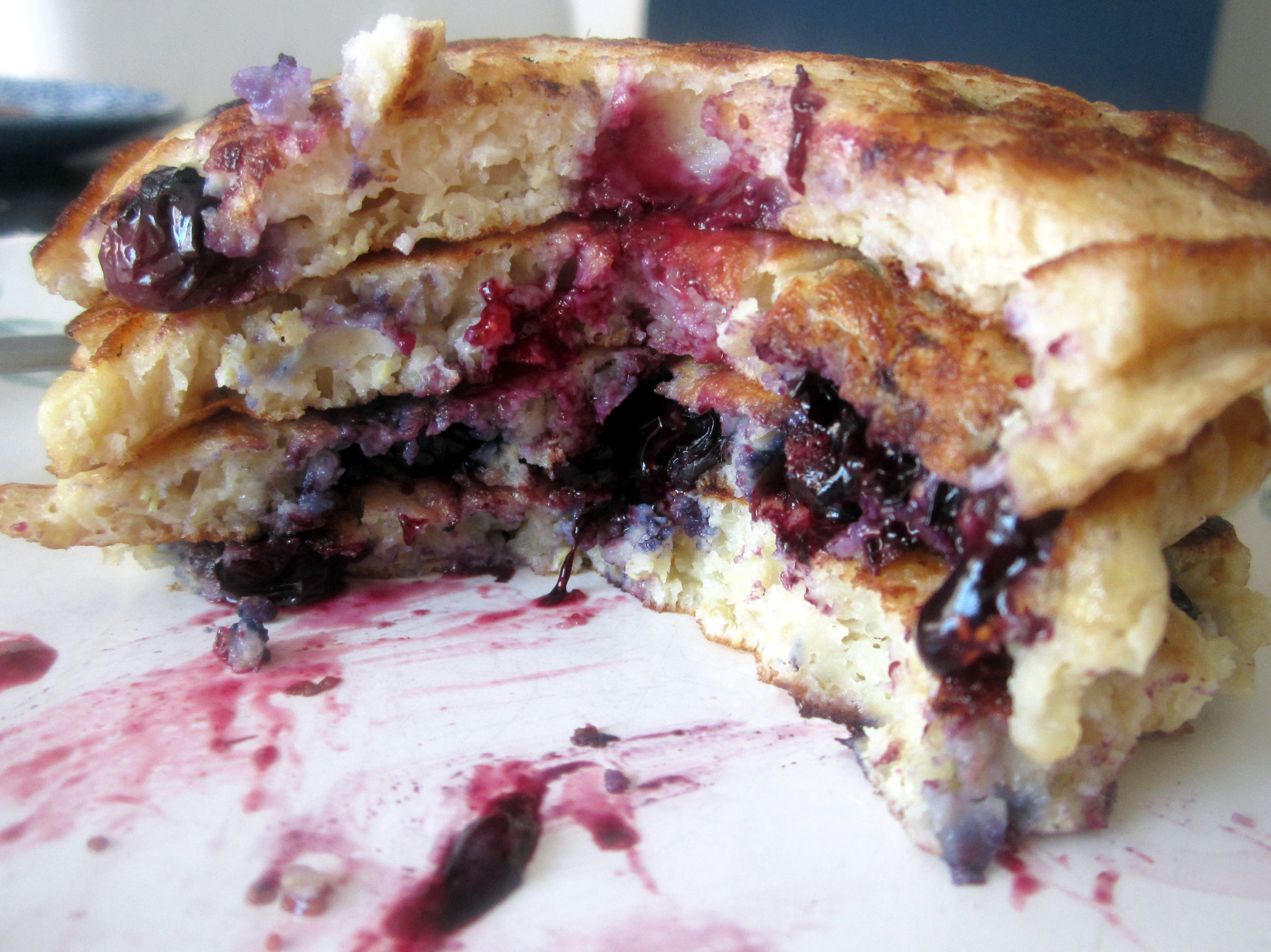Lemon Blueberry Quinoa Pancakes   Ambitious Kitchen