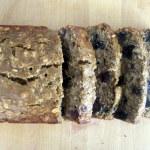 Low Fat Oatmeal Blueberry Banana Bread