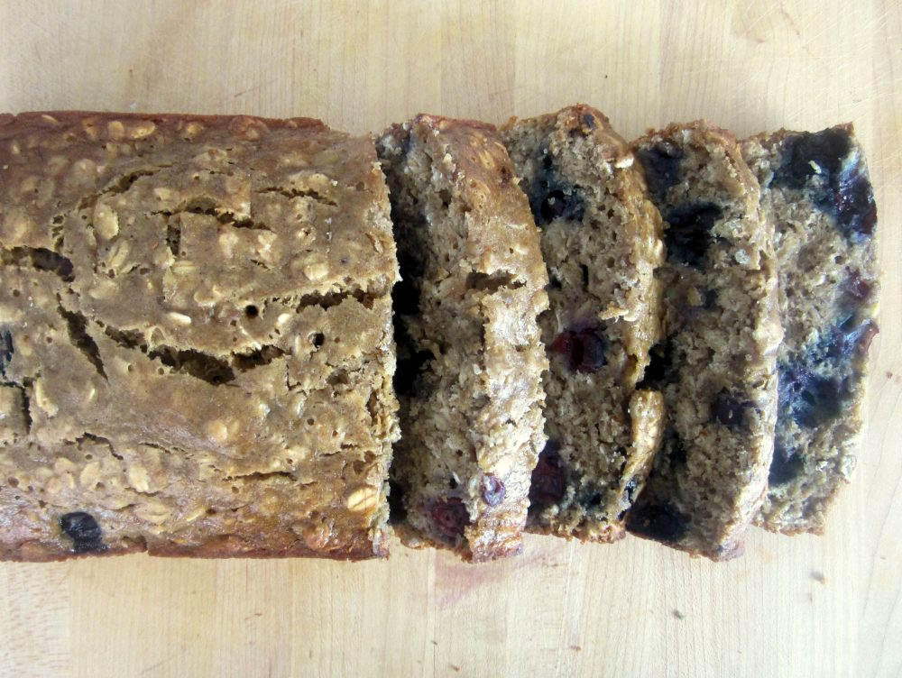 Most Popular Recipes: Low-fat Oatmeal Blueberry Banana Bread