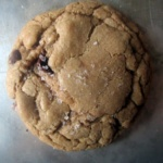 individual brown butter chocolate chip cookie