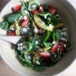 Strawberry, Mango, & Kiwi Spinach Salad