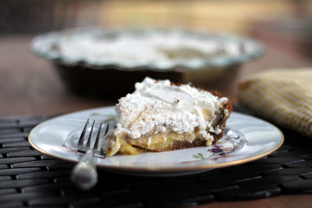 Incredible lemon cream pie with a delicious pecan gingersnap crust. Add fresh whip cream is for an easy, light Spring dessert that anyone will love.