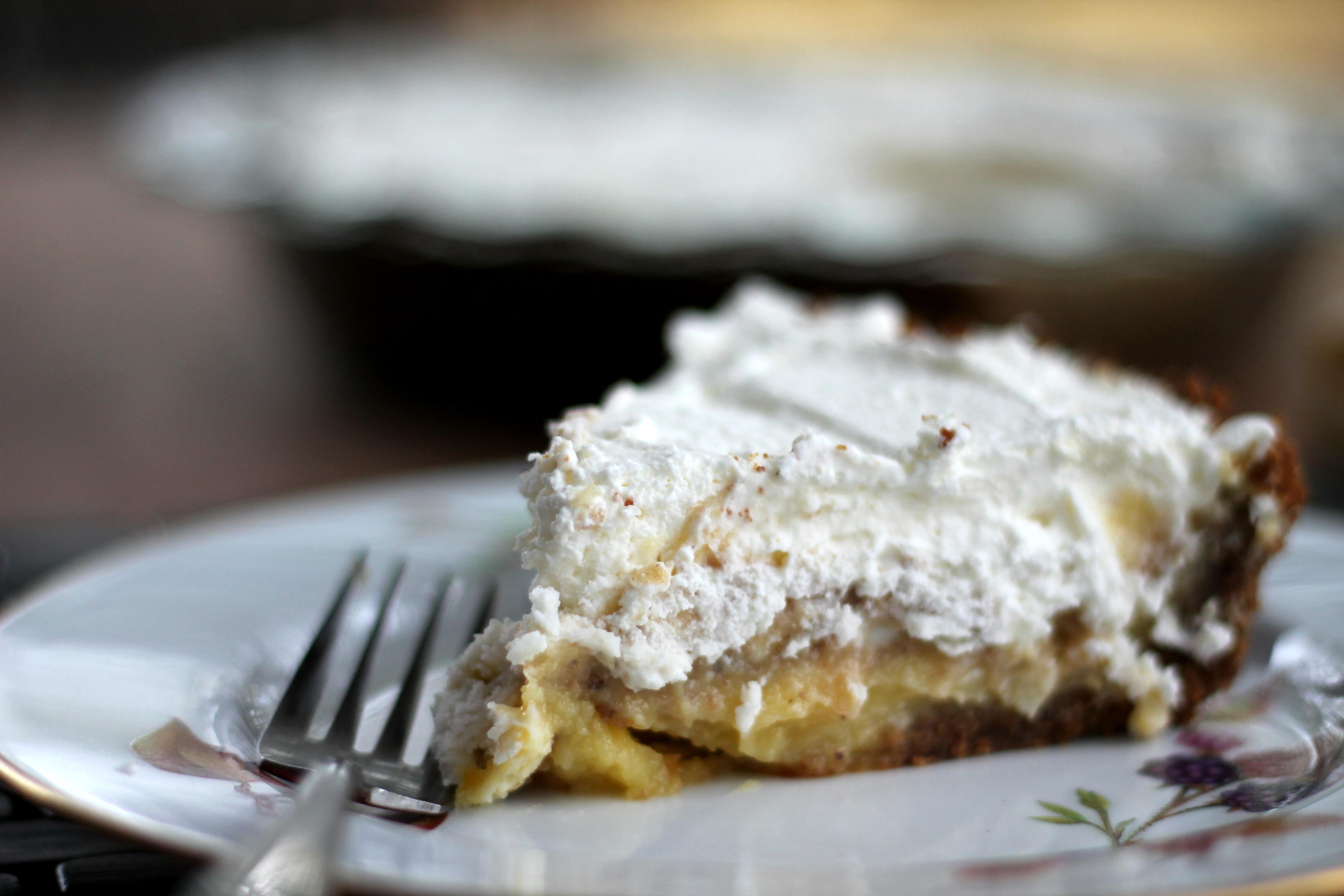 Lemon Cream Pie with Pecan Gingersnap Crust | Ambitious Kitchen