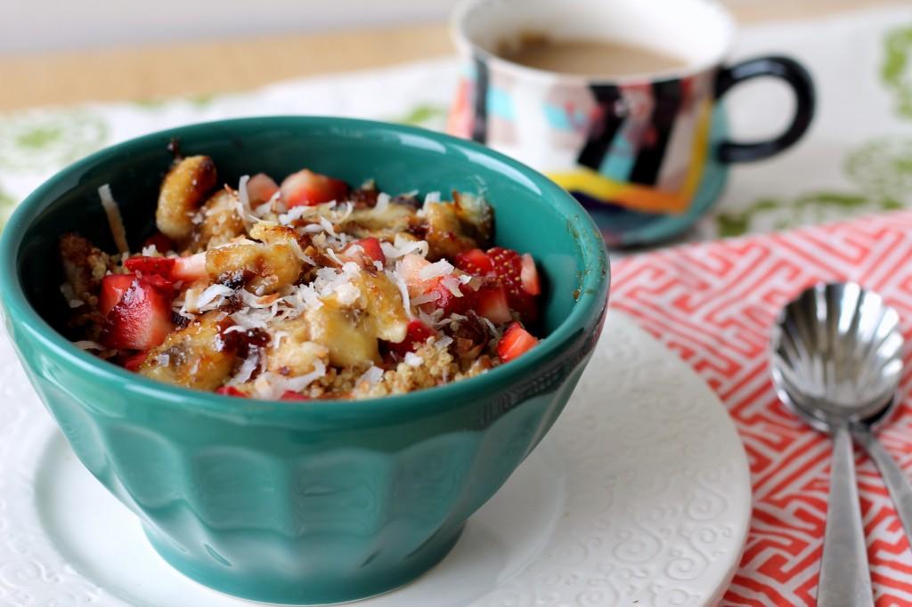 Nutty Strawberry Banana Breakfast Quinoa {Vegan & Gluten-Free ...