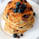 Blueberry Chocolate Chip Quinoa Pancakes
