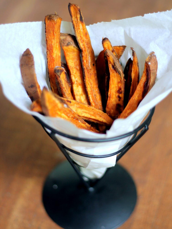 The best crispy baked sweet potato fries