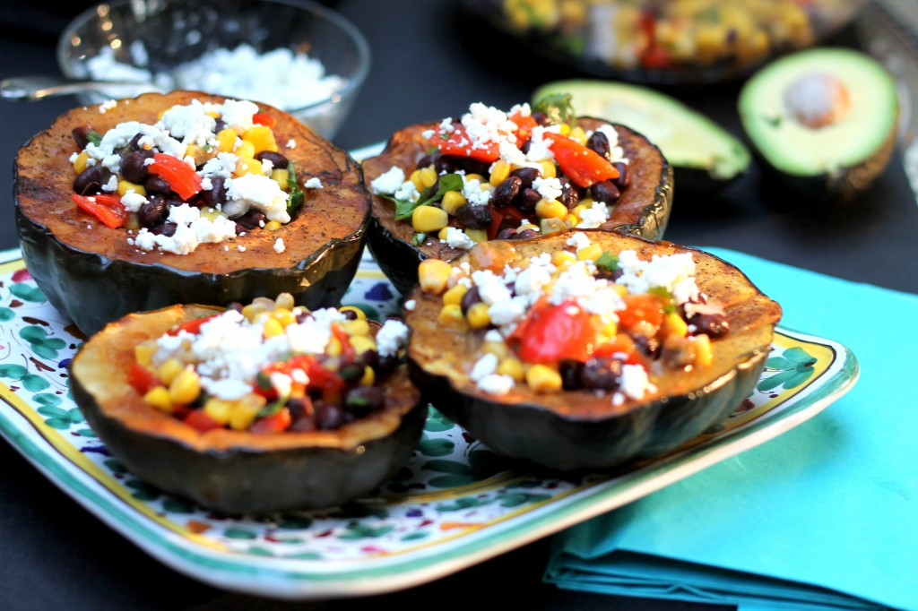 Southwest Stuffed Acorn Squash with Goat Cheese | Ambitious Kitchen