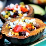 Southwest Stuffed Acorn Squash with Goat Cheese