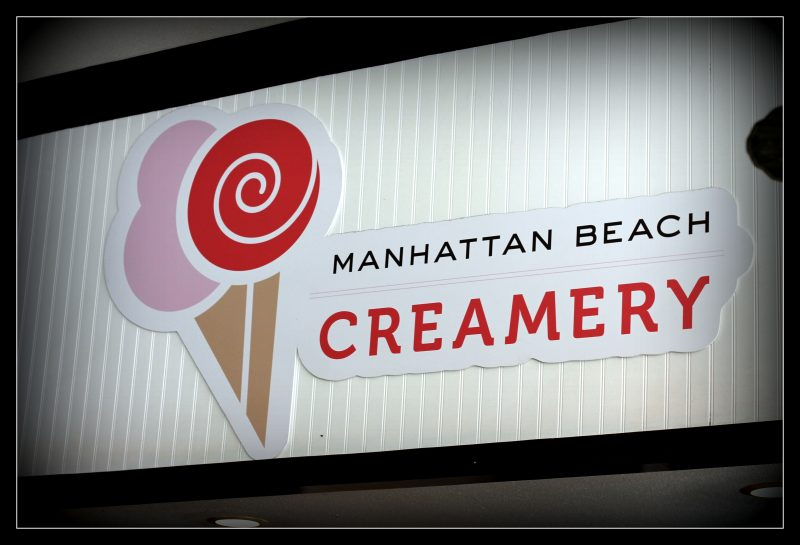 Manhattan Beach Creamery sign