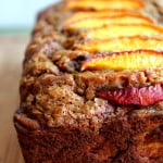 Low-fat Cinnamon Peach Banana Bread