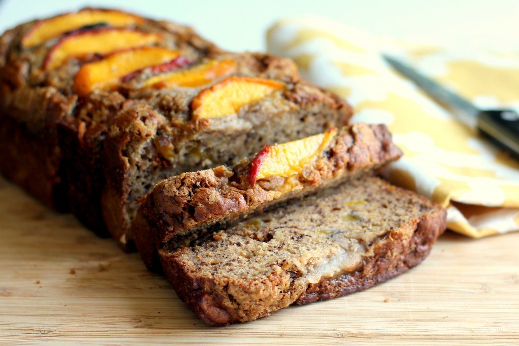 Low Fat Cinnamon Peach Banana Bread Ambitious Kitchen