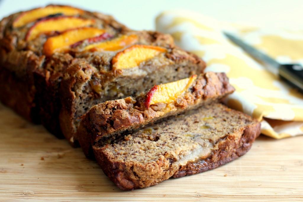 Low Fat Cinnamon Peach Banana Bread Ambitious Kitchen