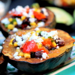 acorn squash stuffed with veggies and black beans
