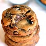 Nutella-Stuffed Brown Butter + Sea Salt Chocolate Chip Cookies {my favorite cookie ever}