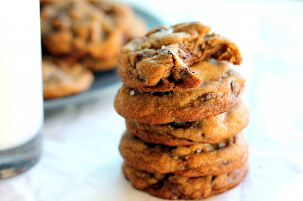 ... Brown Butter + Sea Salt Chocolate Chip Cookies {my favorite cookie