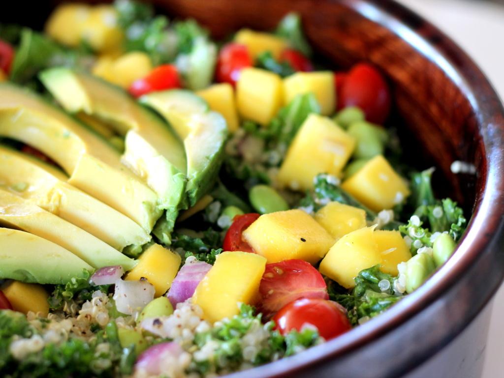 Black Quinoa Salad With Mango, Avocado, & Tomatoes
