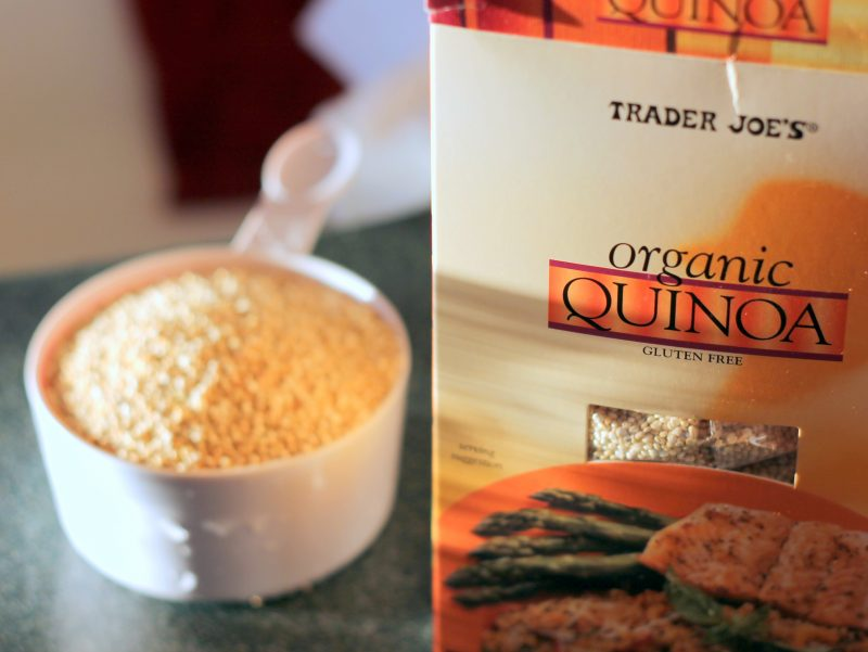 Collage of organic quinoa