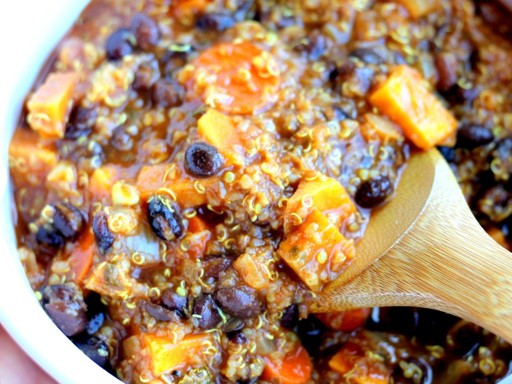 Black Bean, Sweet Potato, And Quinoa Chili Recipe — Dishmaps