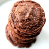 Nutella cookies in a stack