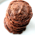 nutella cookies stacked