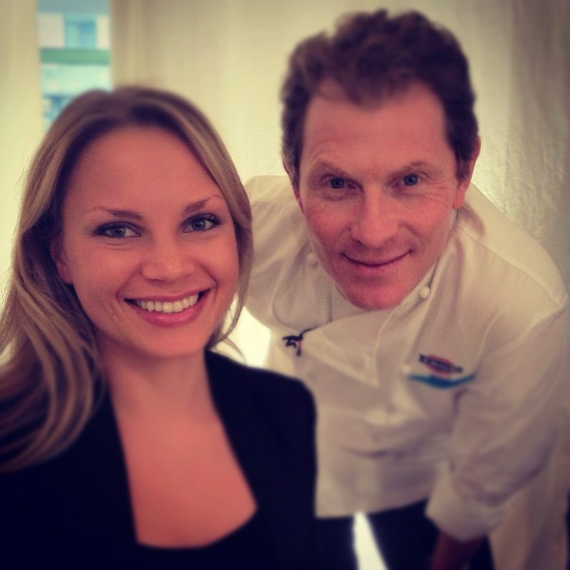 Monique with Bobby Flay