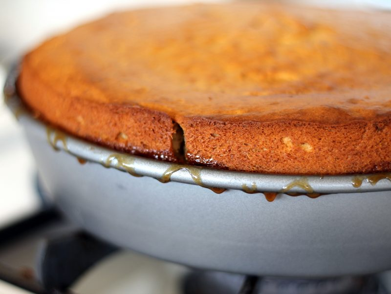 Cake in a pan
