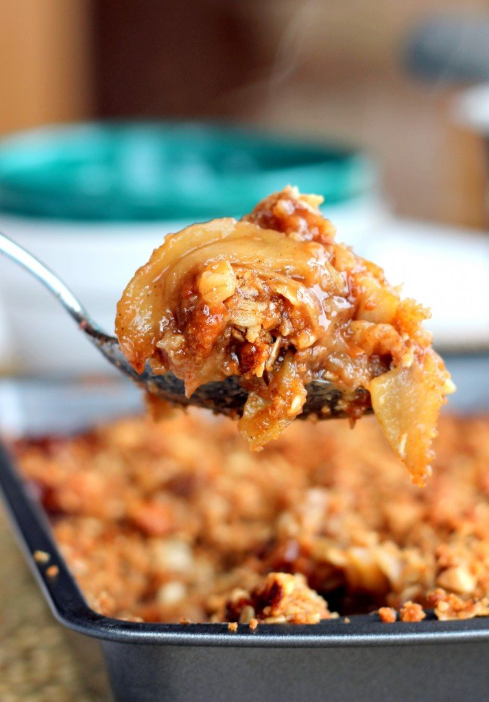 The Best Apple Crisp You'll Ever Have {with brown butter, vanilla bean + bourbon}