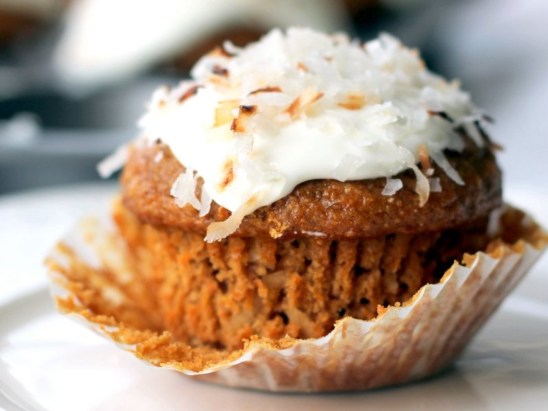 Healthy Whole Grain Carrot Coconut Morning Glory Muffins ...