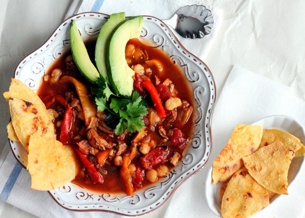 Chili Chicken Soup with Bell Pepper + Hominy Ambitious Kitchen