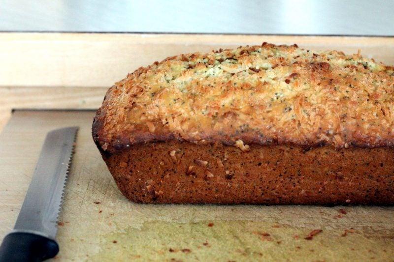 coconut lemon poppyseed bread