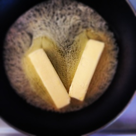 browning butter in a saucepan