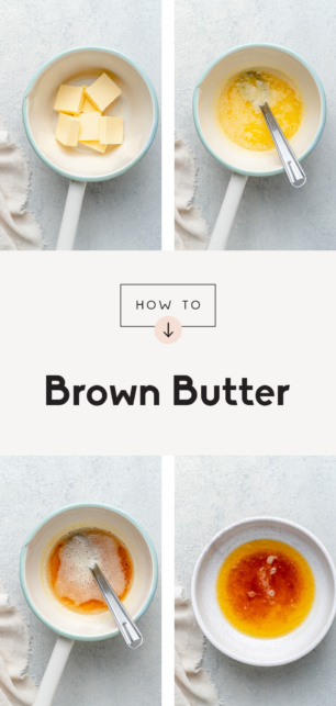 collage of how to brown butter
