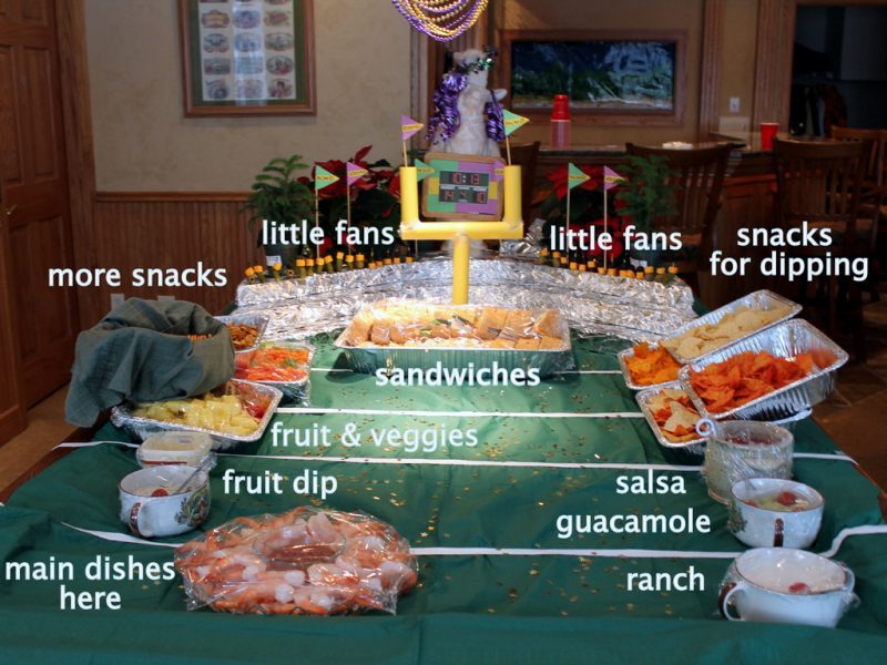 how to build football food display for party