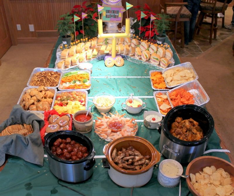 football party food display