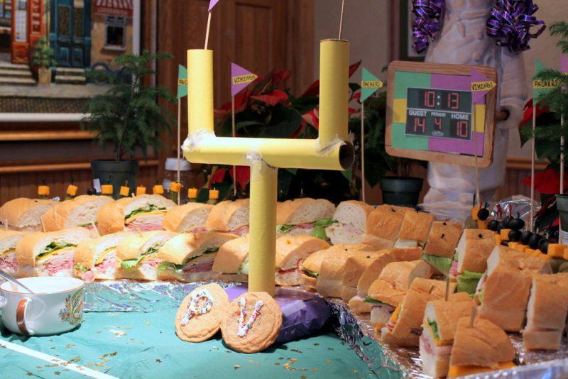 football party food display