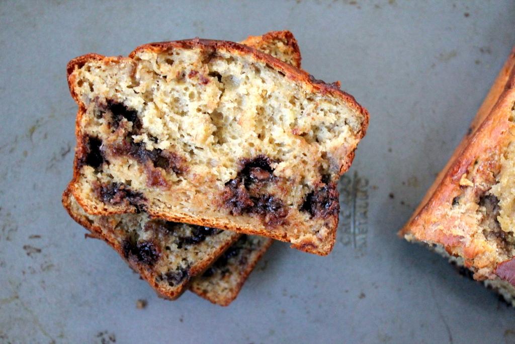 Honey Whole Wheat Chocolate Chip Banana Bread