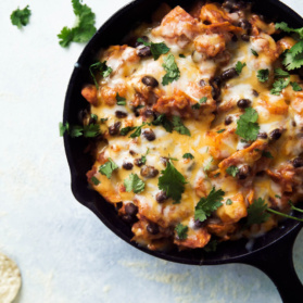 Black bean enchilada skillet