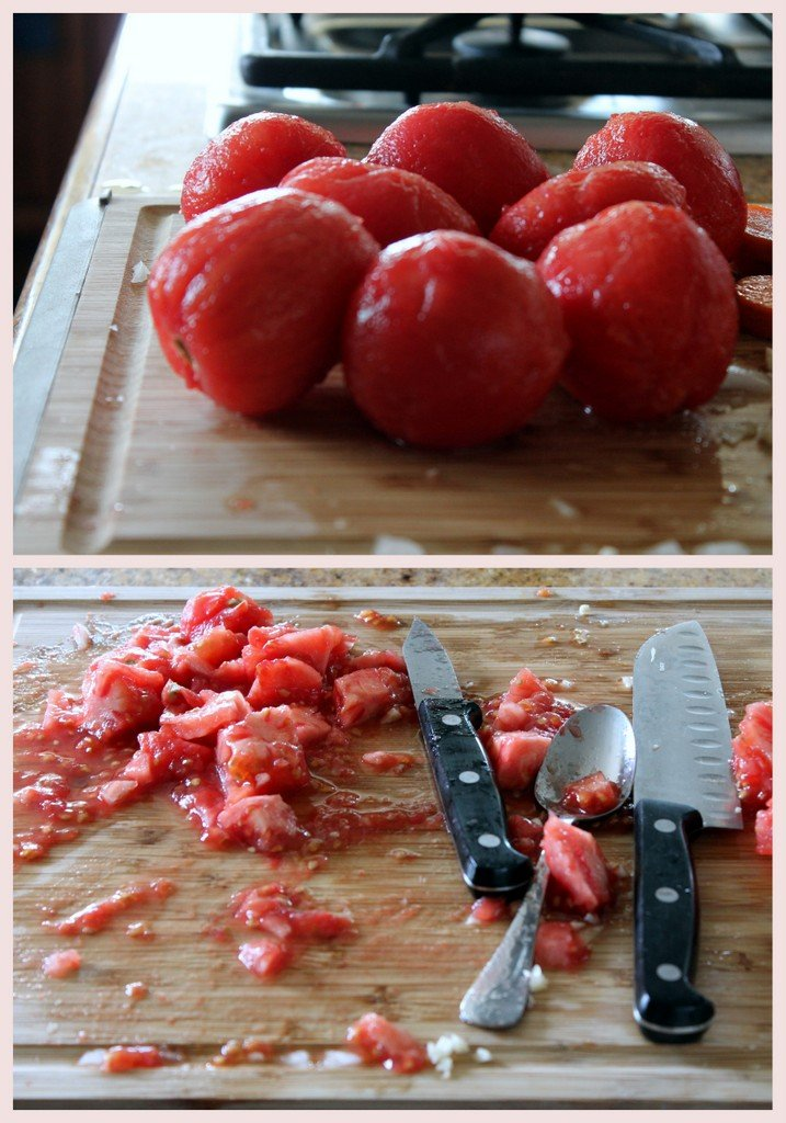 stewed and peeled tomatoes