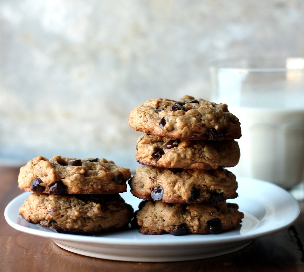 Thick Chewy Peanut Er Oatmeal Chocolate Chip Cookies Made Without Or Flour Delicious