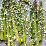 Sesame Garlic Roasted Asparagus