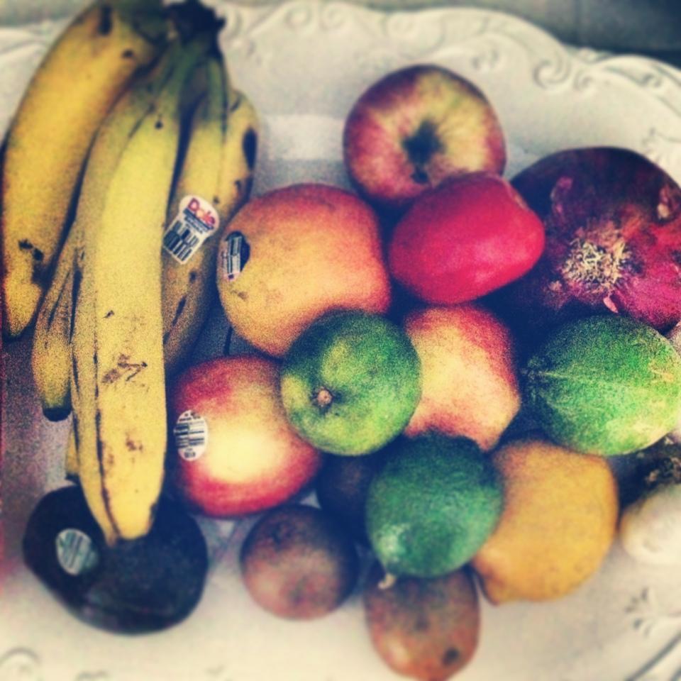 fruits on a platter